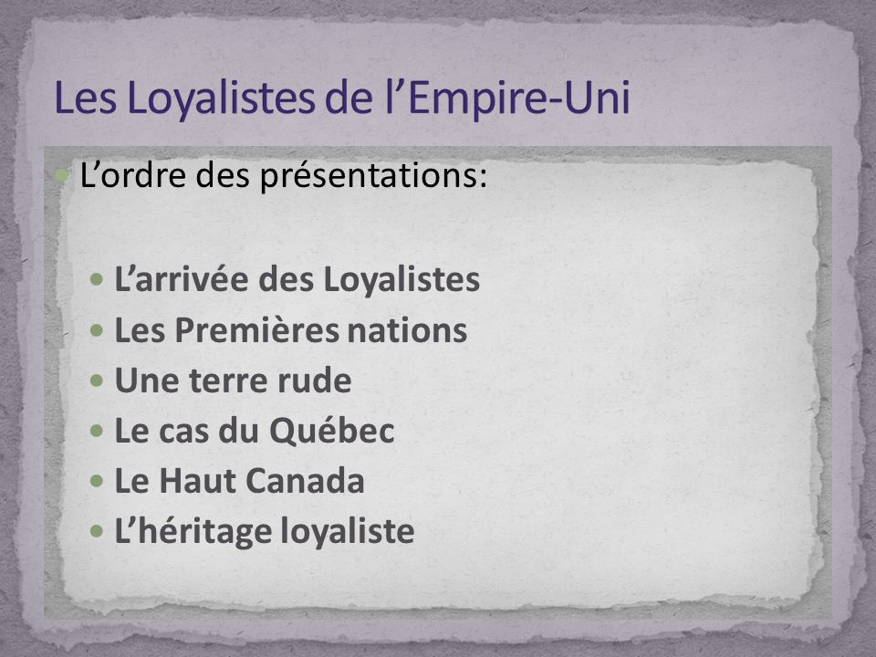 Les Loyalistes de l'Empire-Uni