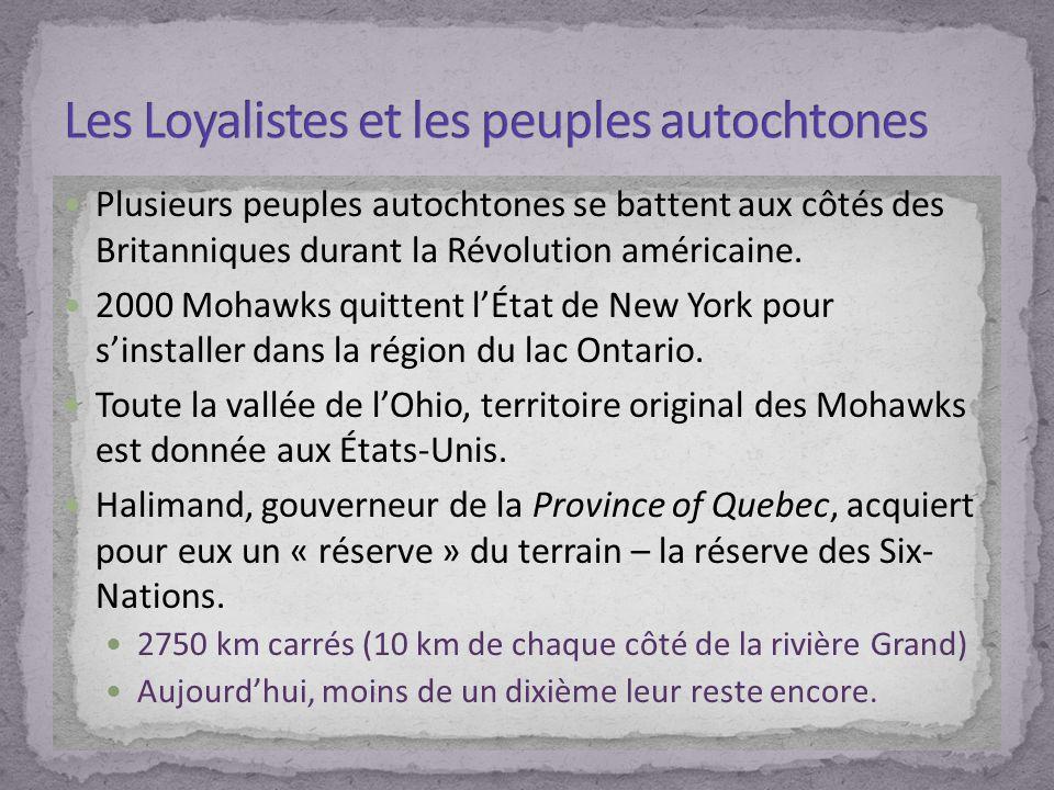 Les Loyalistes et les peuples autochtones