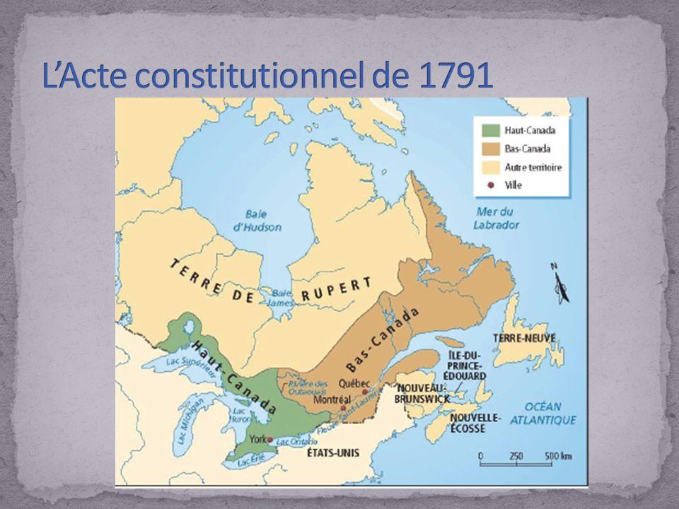 L'Acte constitutionnel de 1791