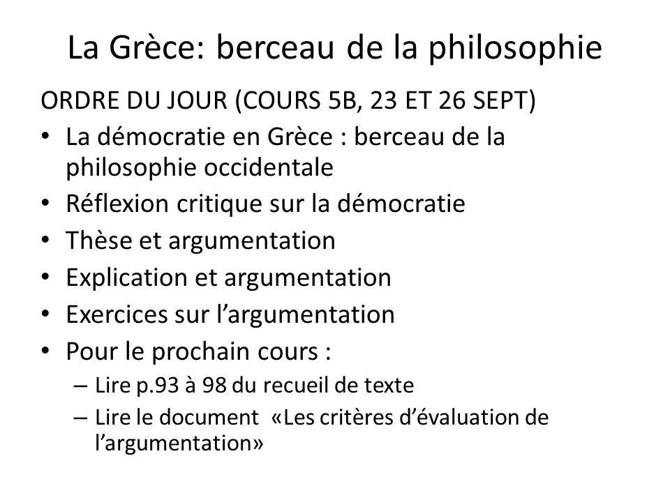 La Grèce: berceau de la philosophie
