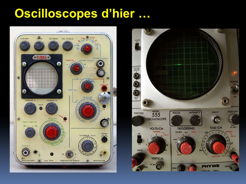 Oscilloscopes d'hier …