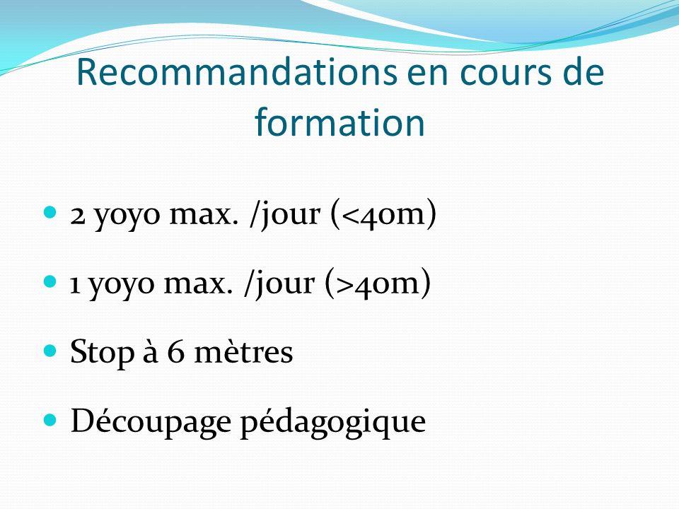 Recommandations en cours de formation