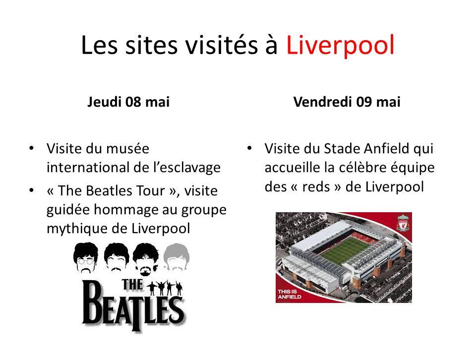 Les sites visités à Liverpool