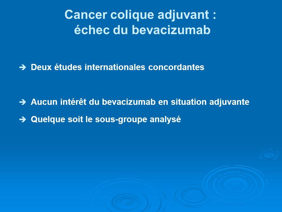 Cancer colique adjuvant :
