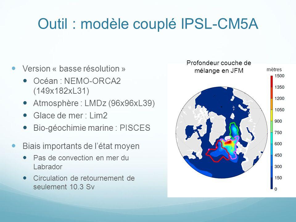 Outil : modèle couplé IPSL-CM5A