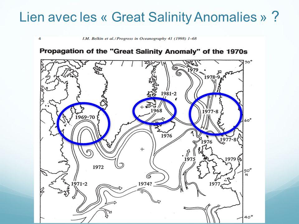Lien avec les « Great Salinity Anomalies »