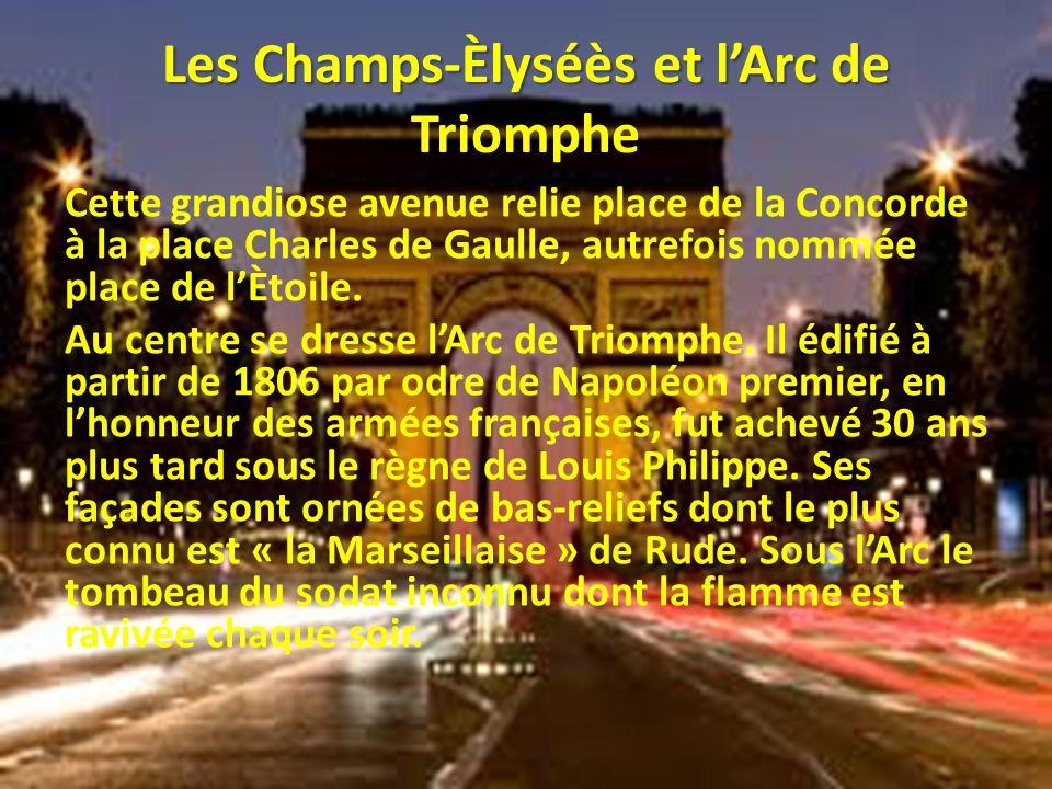 Les Champs-Èlyséès et l'Arc de Triomphe
