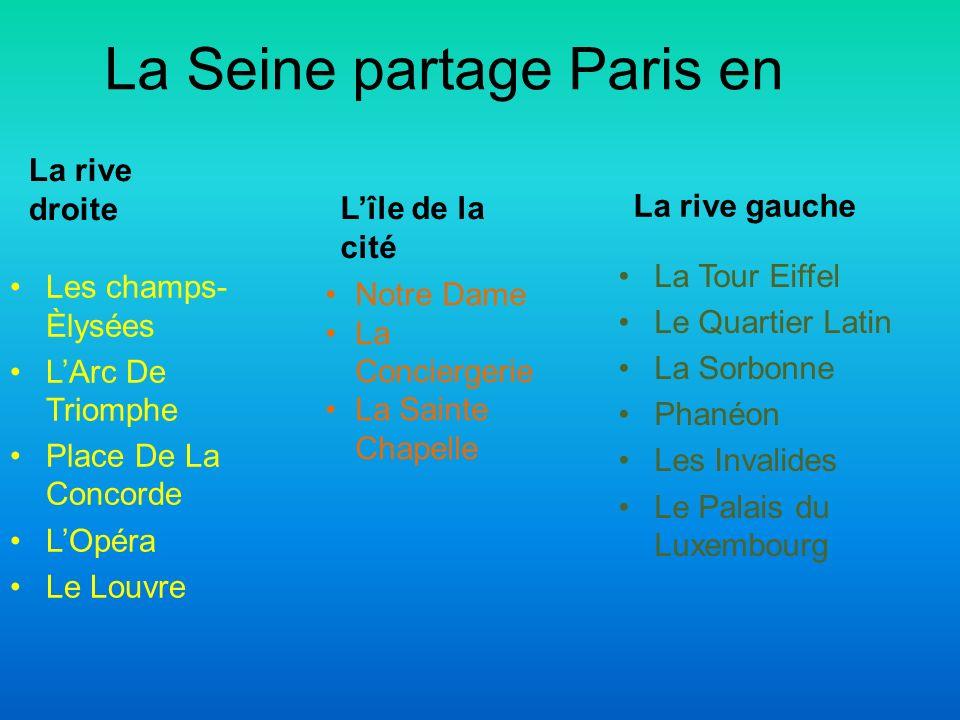 La Seine partage Paris en