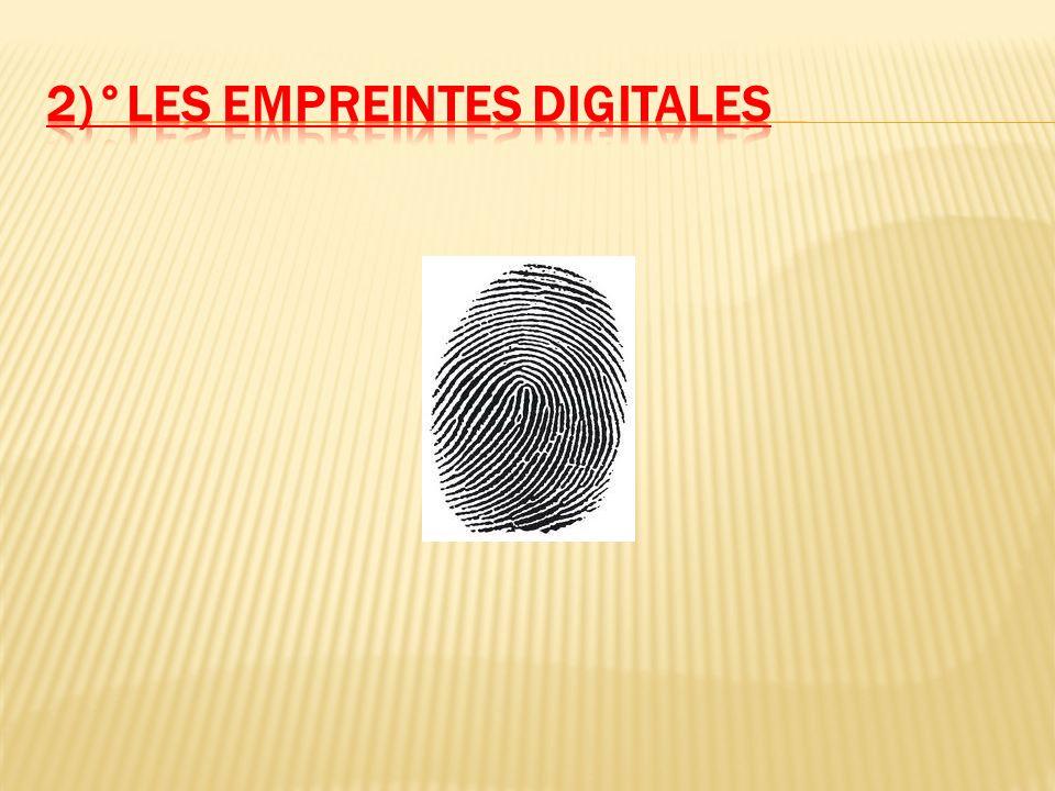 2)°les empreintes digitales