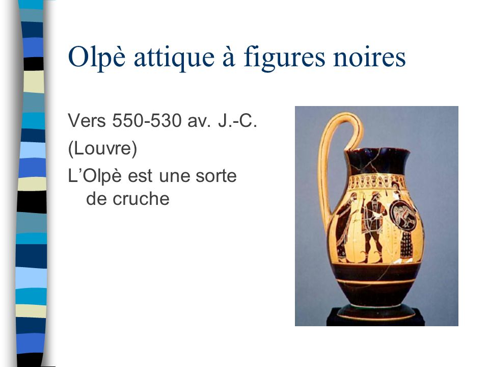 Olpè attique à figures noires