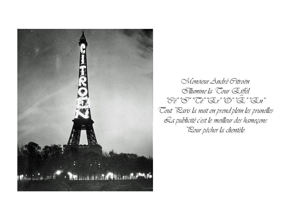 Monsieur André Citroën Illumine la Tour Eiffel