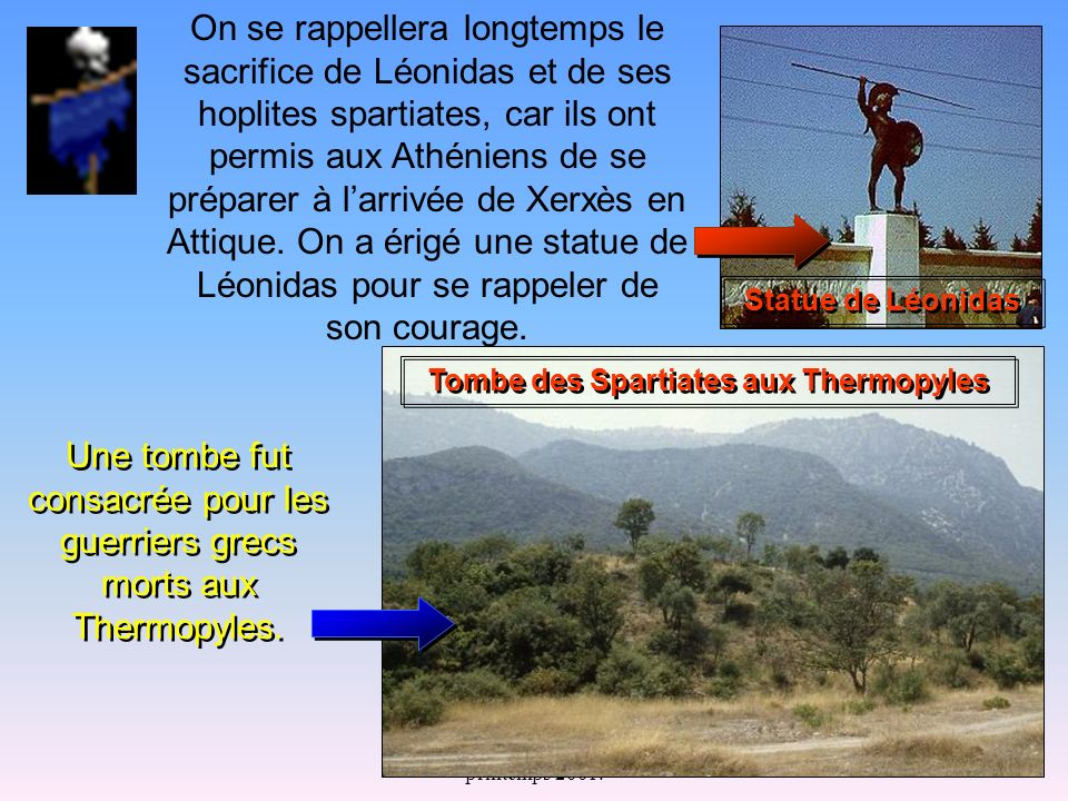 Tombe des Spartiates aux Thermopyles