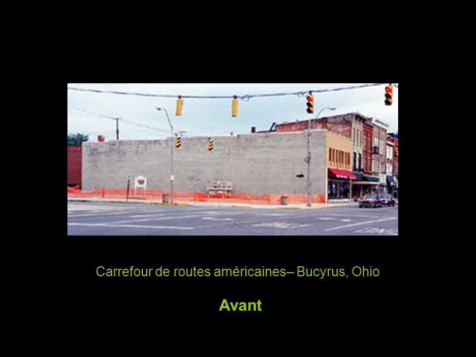 Carrefour de routes américaines– Bucyrus, Ohio