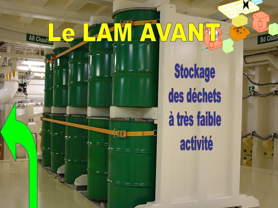 Futs LAM avant x Le LAM AVANT Stockage des déchets à très faible