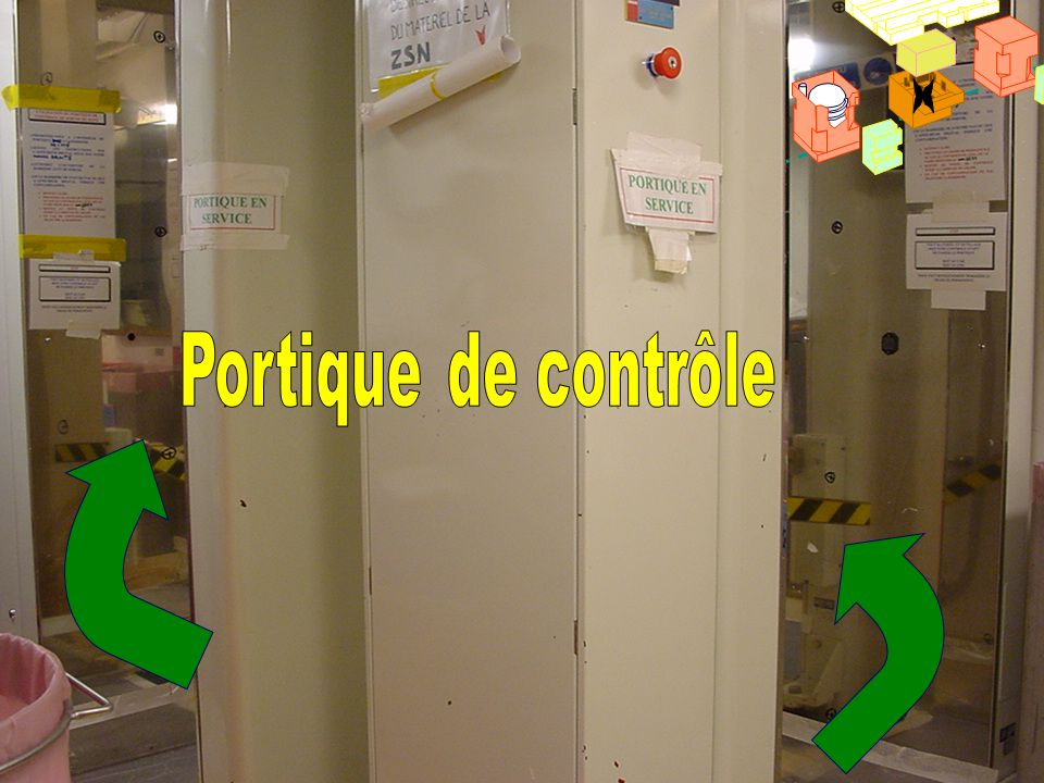 SAS de contrôle x Portique de contrôle
