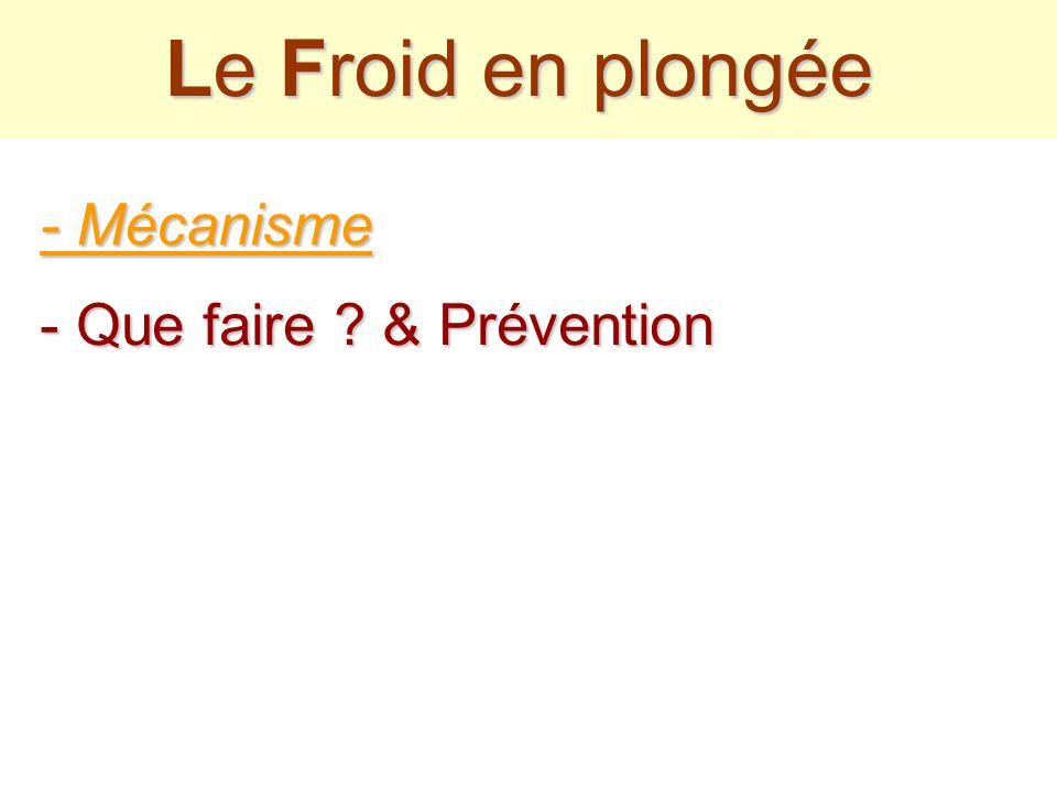Le Froid en plongée - Mécanisme - Que faire & Prévention