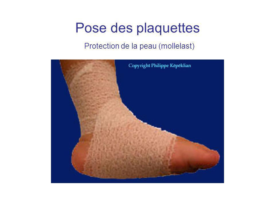Pose des plaquettes Protection de la peau (mollelast)