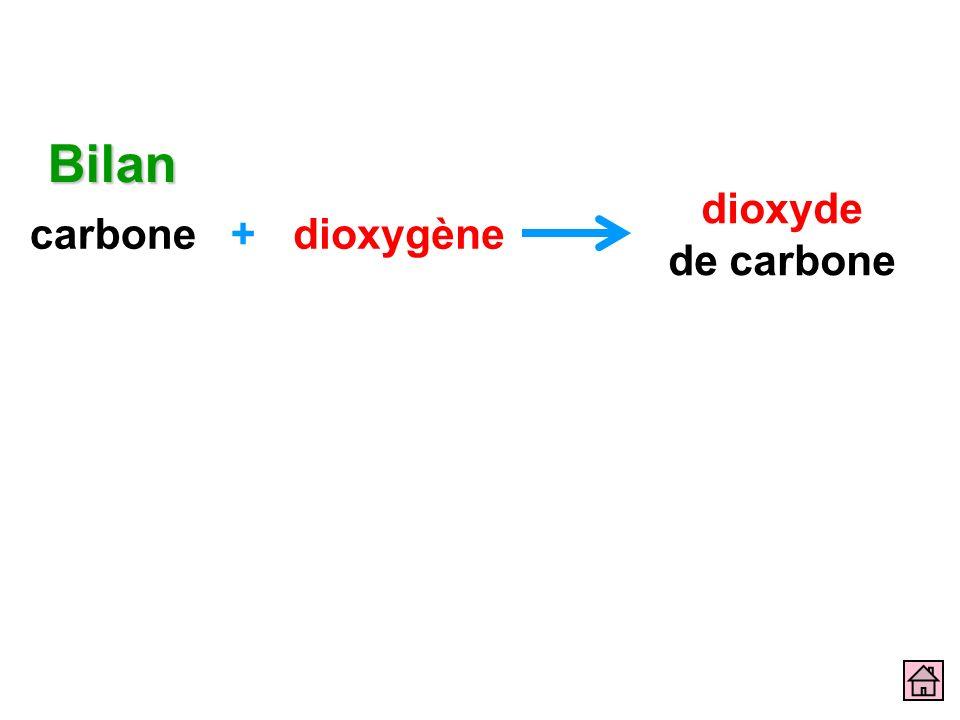 Bilan carbone dioxygène + dioxyde de carbone