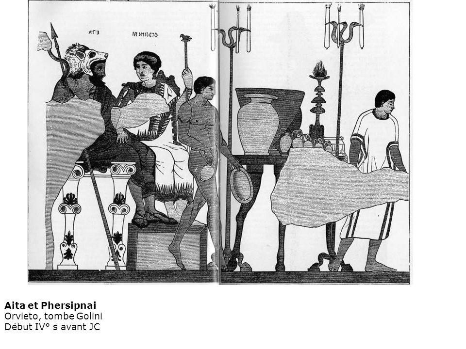 Aita et Phersipnai Orvieto, tombe Golini Début IV° s avant JC