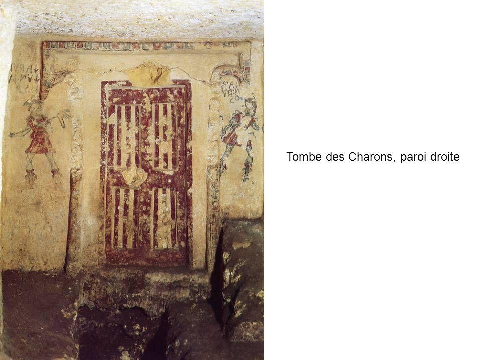 Tombe des Charons, paroi droite