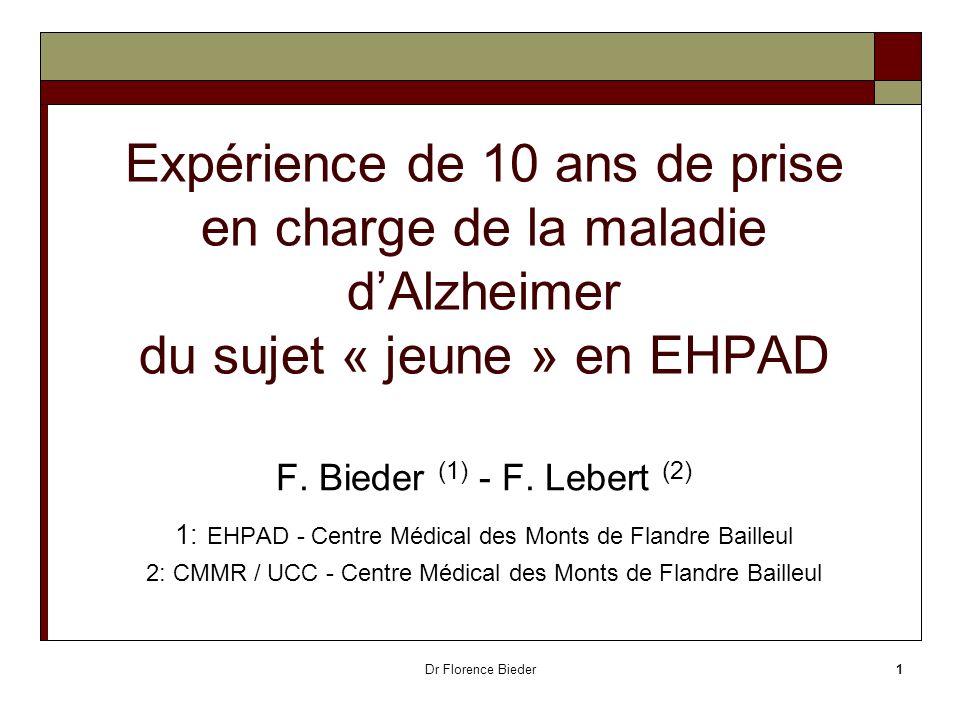 Expérience de 10 ans de prise en charge de la maladie d'Alzheimer du sujet « jeune » en EHPAD