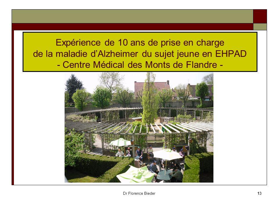 Expérience de 10 ans de prise en charge de la maladie d'Alzheimer du sujet jeune en EHPAD - Centre Médical des Monts de Flandre -