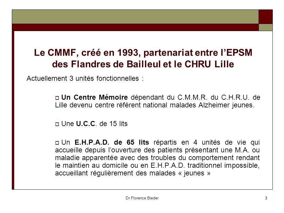 Le CMMF, créé en 1993, partenariat entre l'EPSM des Flandres de Bailleul et le CHRU Lille