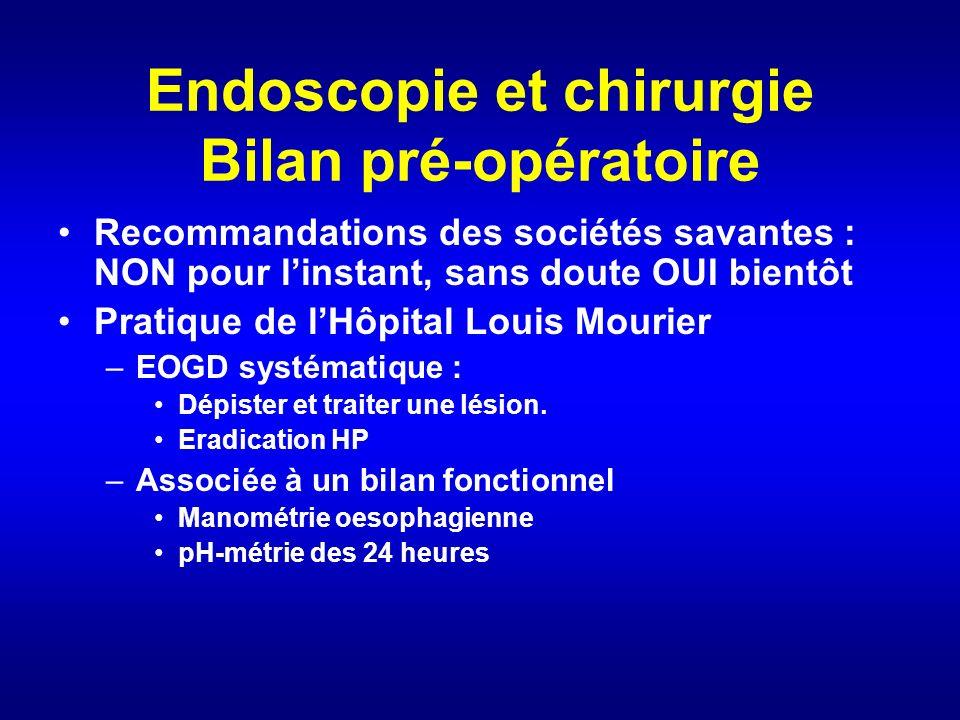 Endoscopie et chirurgie Bilan pré-opératoire