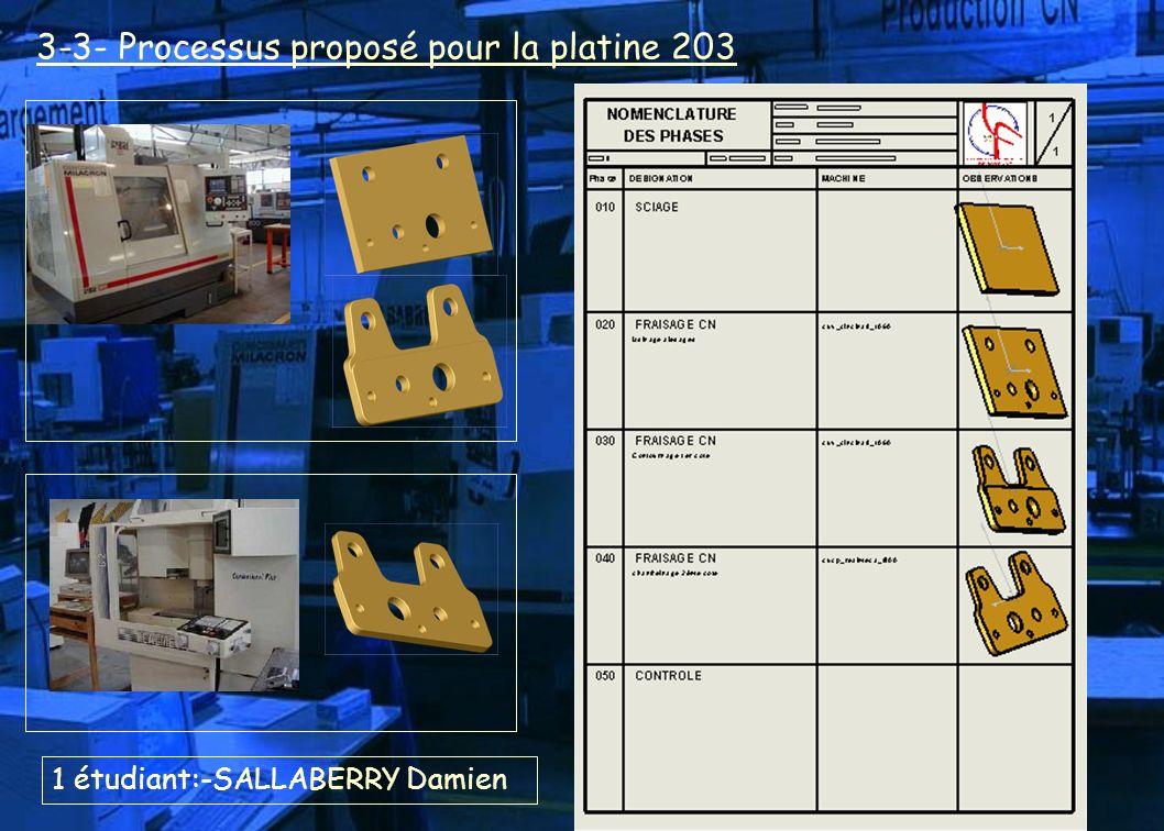 3-3- Processus proposé pour la platine 203