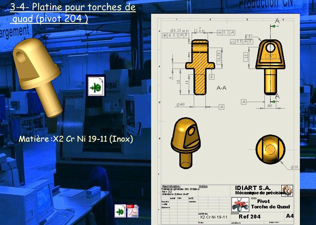 3-4- Platine pour torches de quad (pivot 204 )