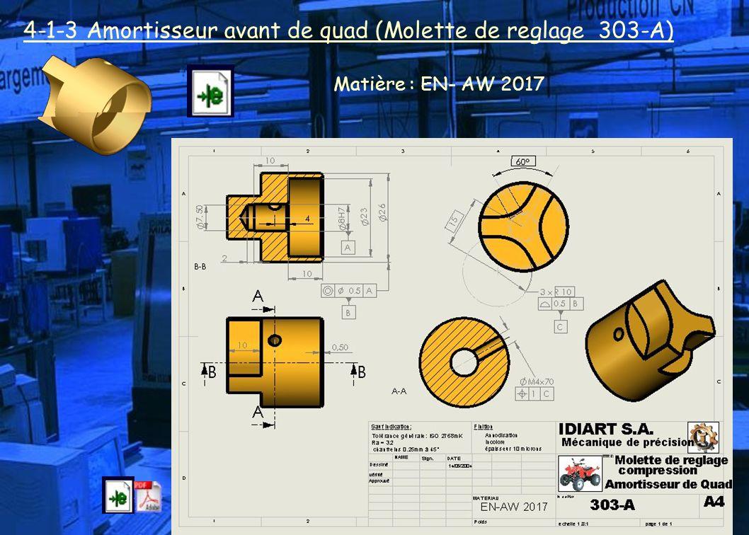4-1-3 Amortisseur avant de quad (Molette de reglage 303-A)