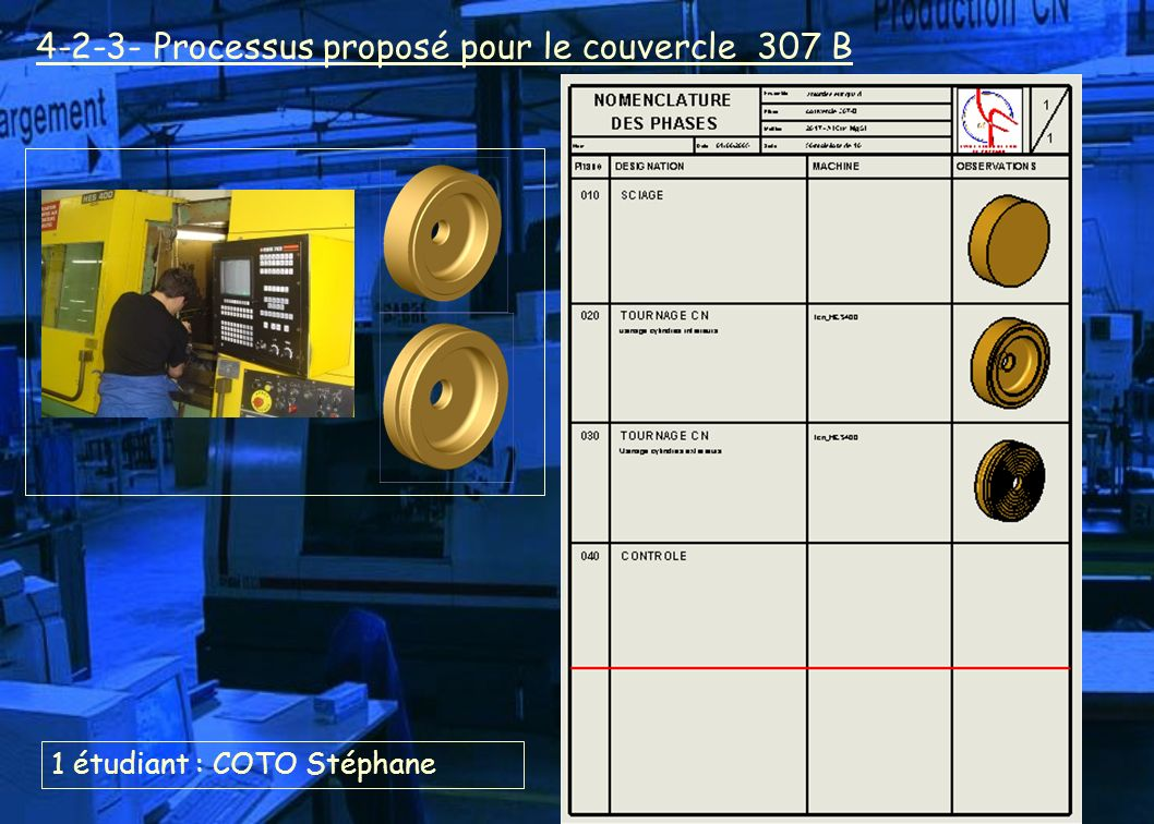 4-2-3- Processus proposé pour le couvercle 307 B