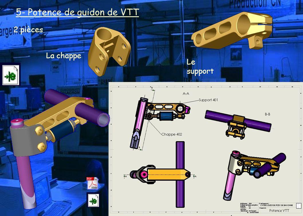 5- Potence de guidon de VTT