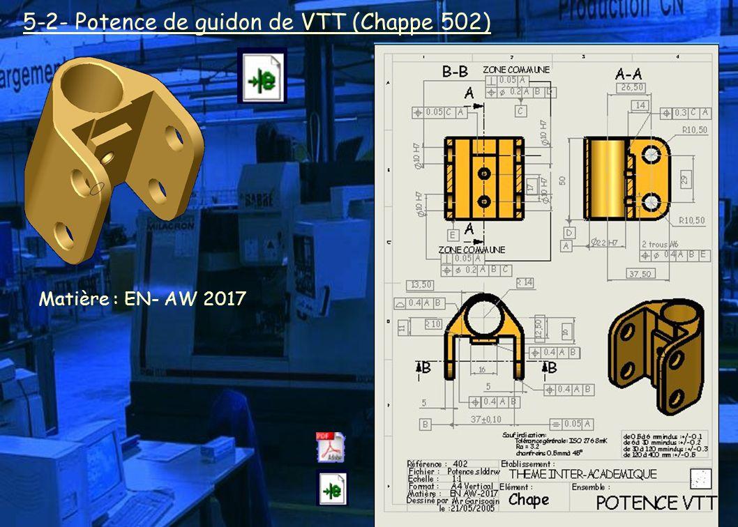 5-2- Potence de guidon de VTT (Chappe 502)