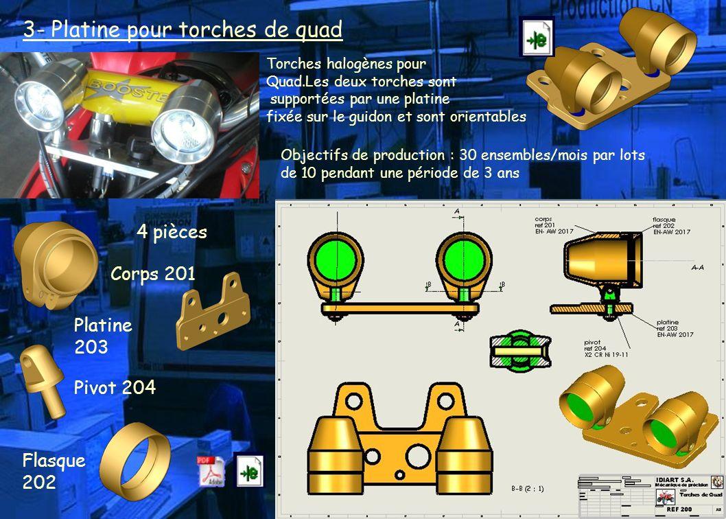 3- Platine pour torches de quad