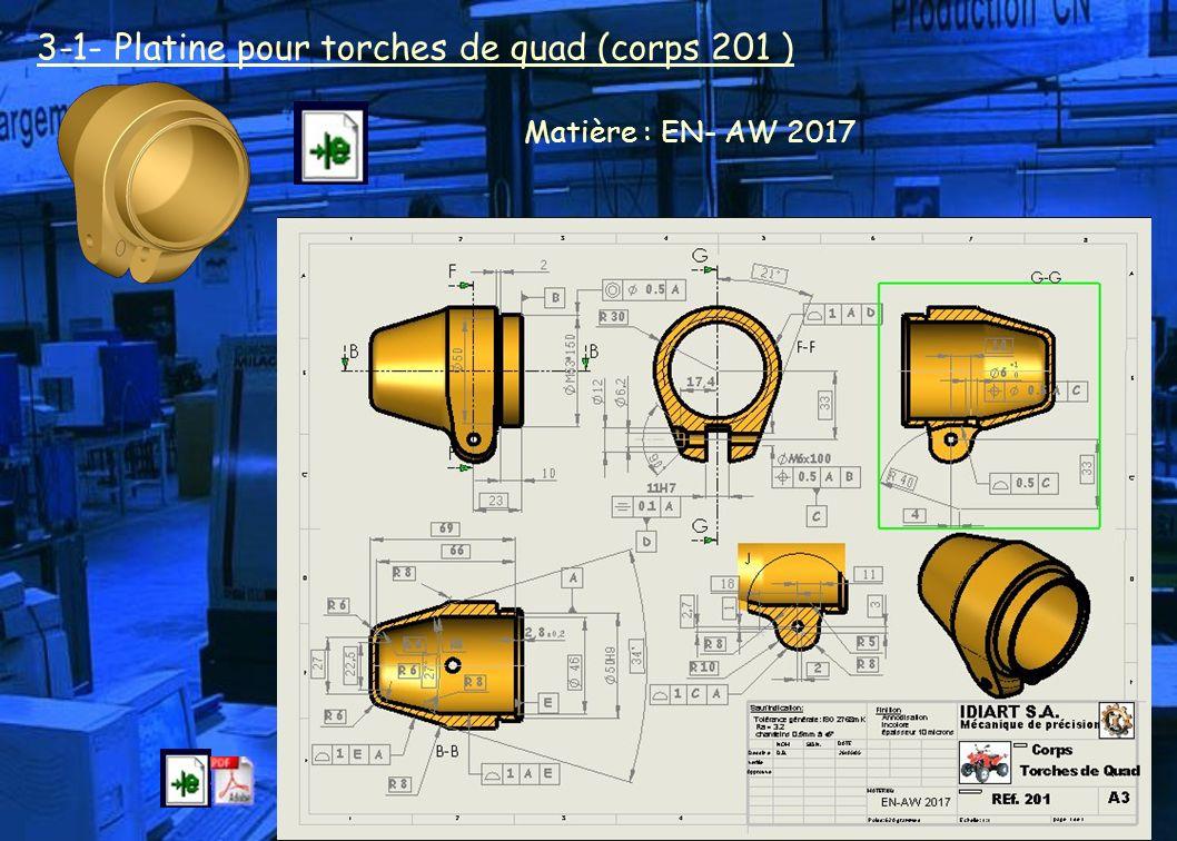 3-1- Platine pour torches de quad (corps 201 )