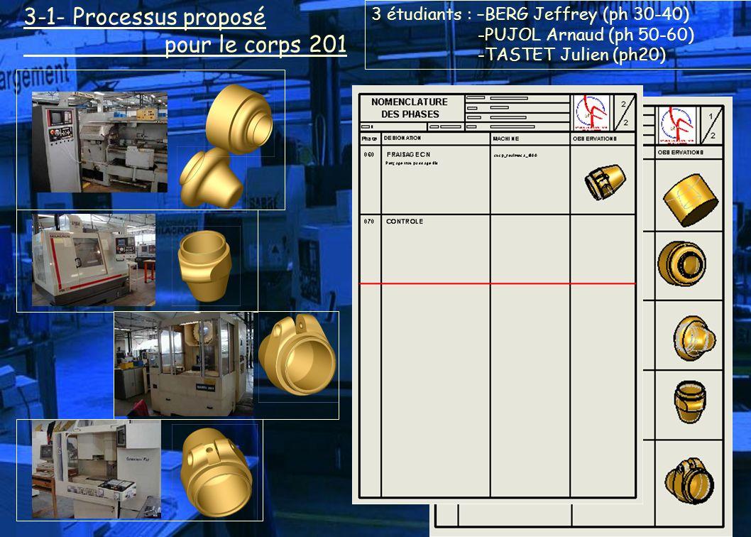 3-1- Processus proposé pour le corps 201