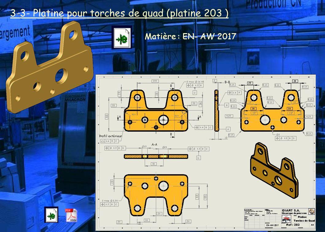3-3- Platine pour torches de quad (platine 203 )