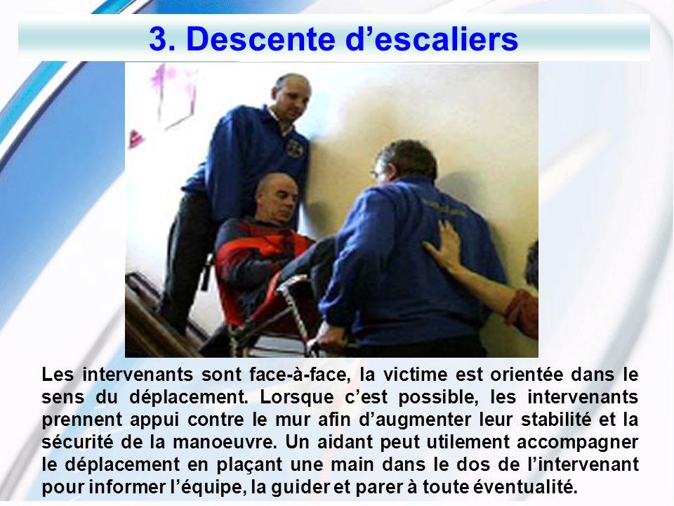 3. Descente d'escaliers