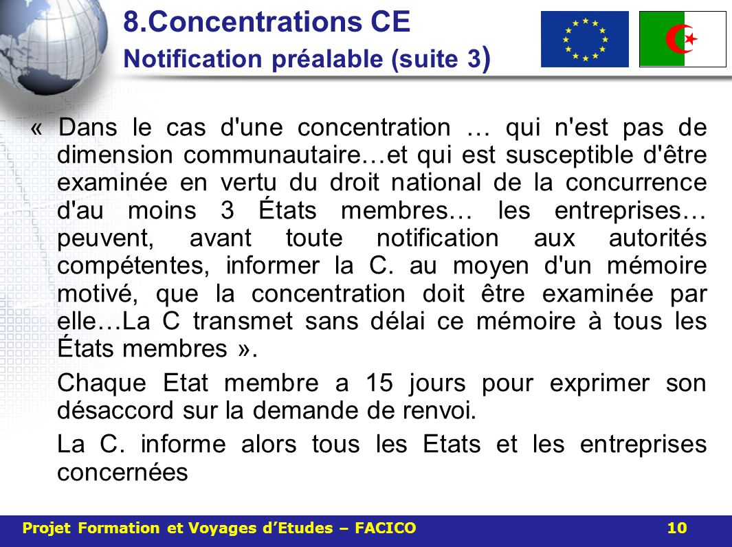 8.Concentrations CE Notification préalable (suite 3)