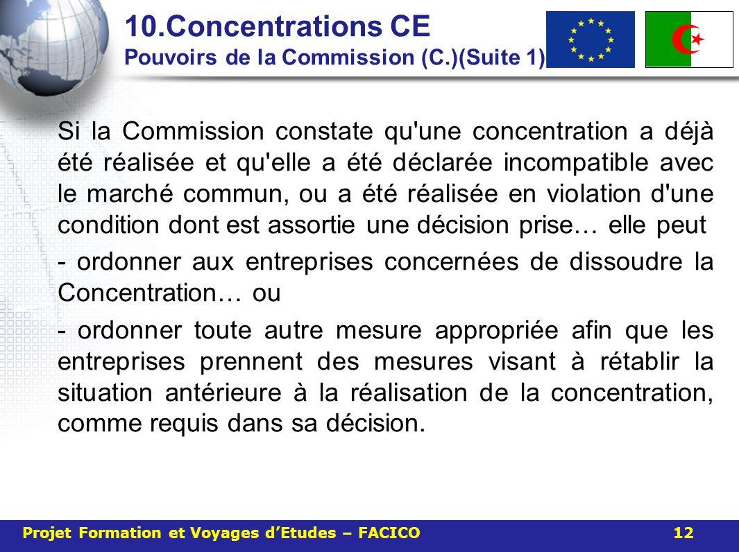 10.Concentrations CE Pouvoirs de la Commission (C.)(Suite 1)
