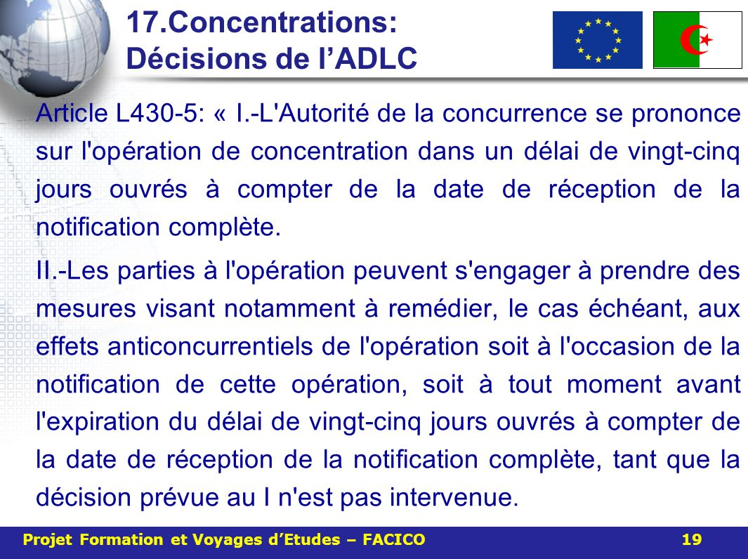 17.Concentrations: Décisions de l'ADLC