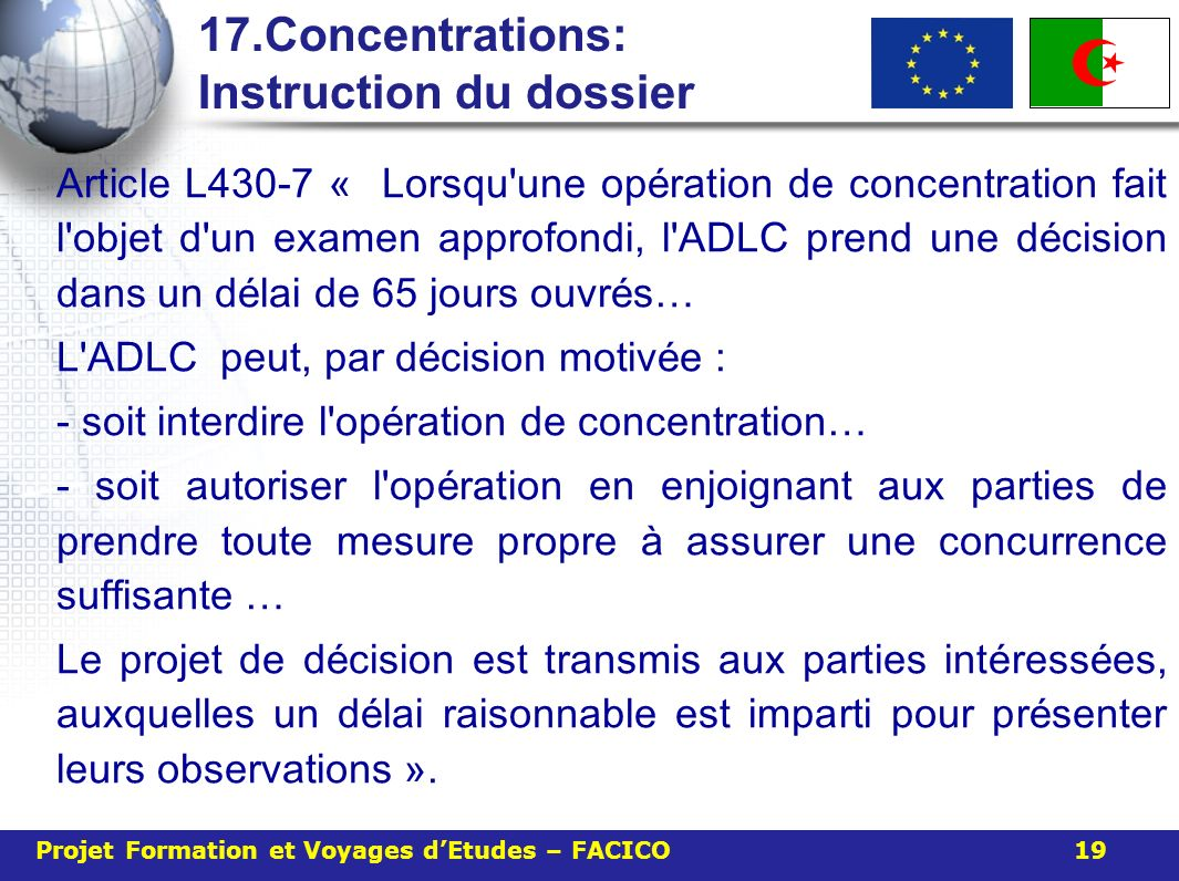 17.Concentrations: Instruction du dossier