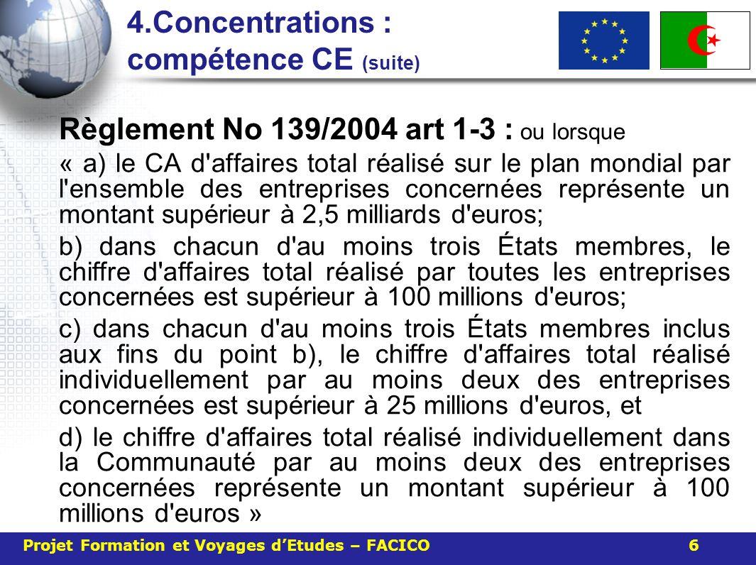 4.Concentrations : compétence CE (suite)