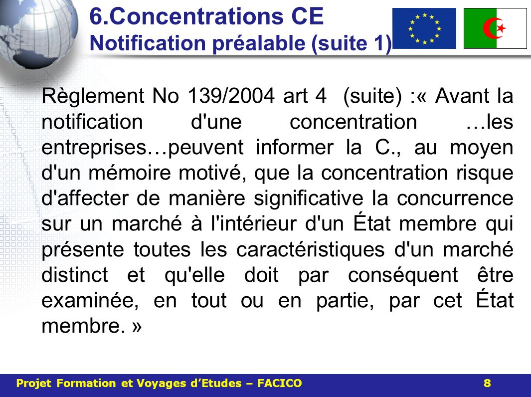 6.Concentrations CE Notification préalable (suite 1)
