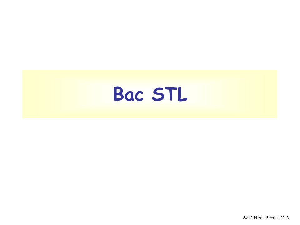 Bac STL SAIO Nice - Février 2013