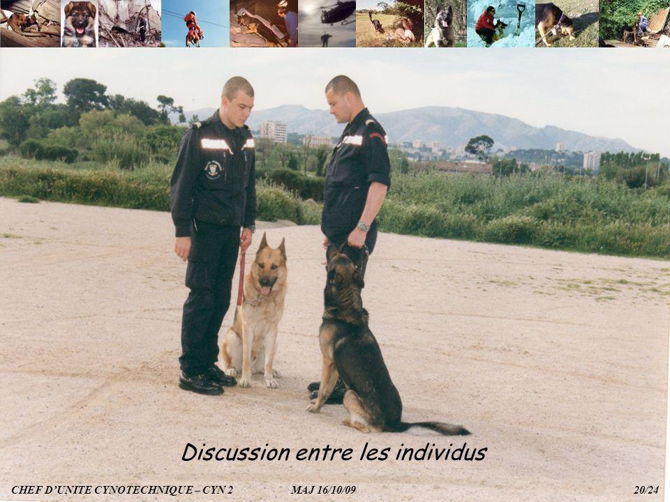 Discussion entre les individus