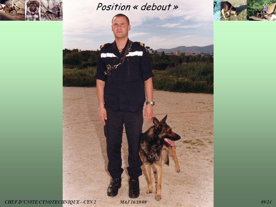 Position « debout » CHEF D'UNITE CYNOTECHNIQUE – CYN 2 MAJ 16/10/09 09/24.