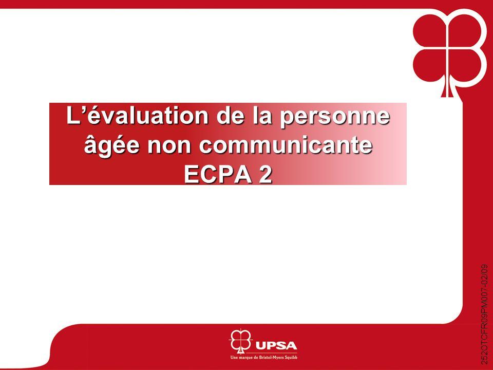 L'évaluation de la personne âgée non communicante ECPA 2