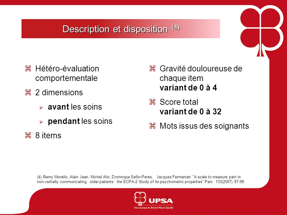 Description et disposition (4)